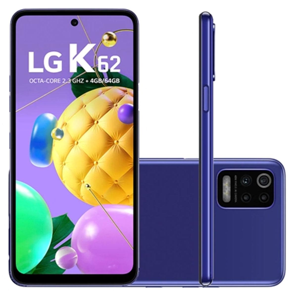 Smartphone K62 Azul, com Tela de 6,59