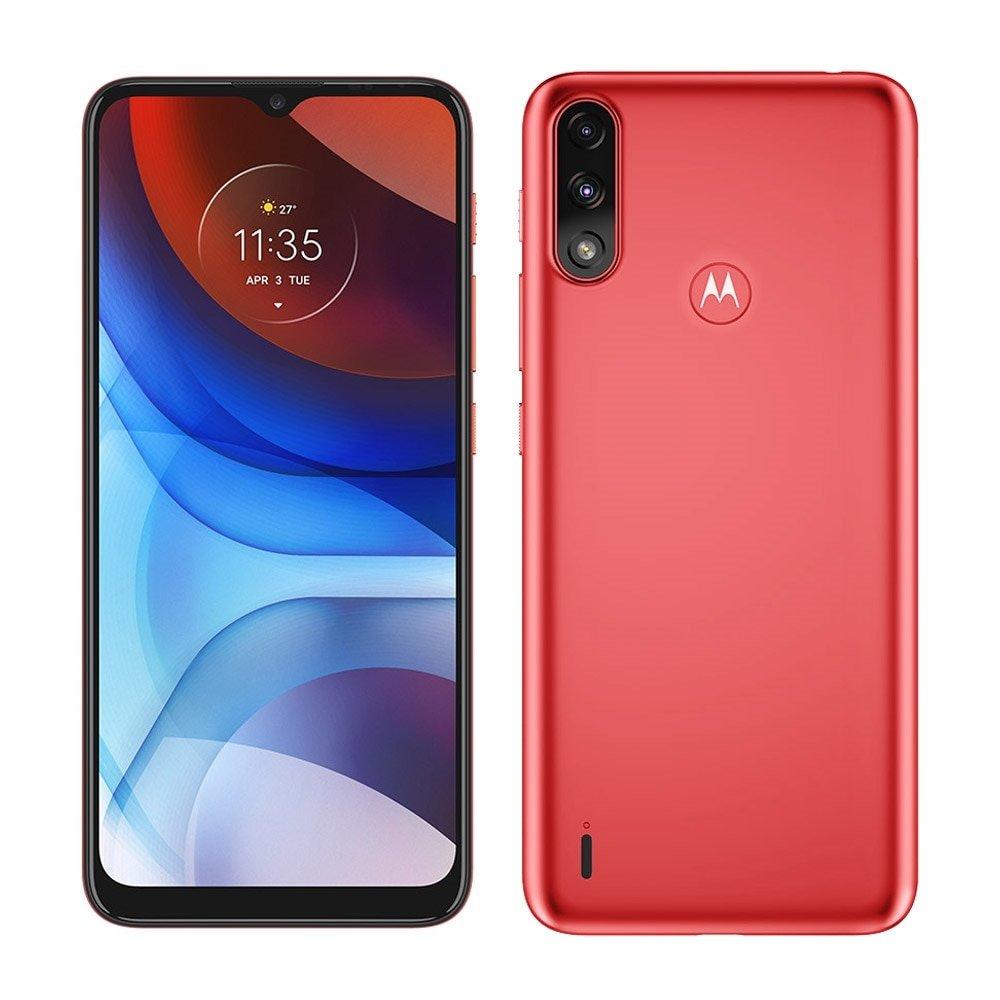 Smartphone Motorola Moto E7 Power 4G 32GB Vermelho Coral Tela 6.5? Câmera Dupla 13MP Selfie 5MP Android 10