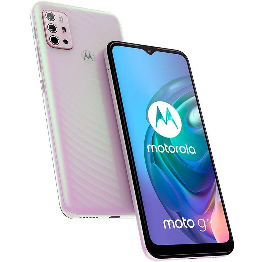 Smartphone Motorola Moto G10 64GB 4GB Ram Tela de 6.5? Câmera Traseira Quádrupla - Branco Floral