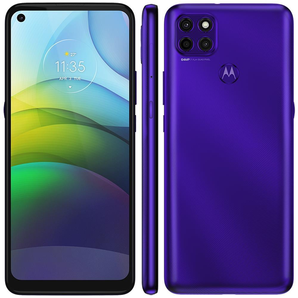 smartphone motorola moto g9 power purple 128gb, 4gb ram, tela de 6.8?, câmera traseira tripla, android 10 e processador octa-core