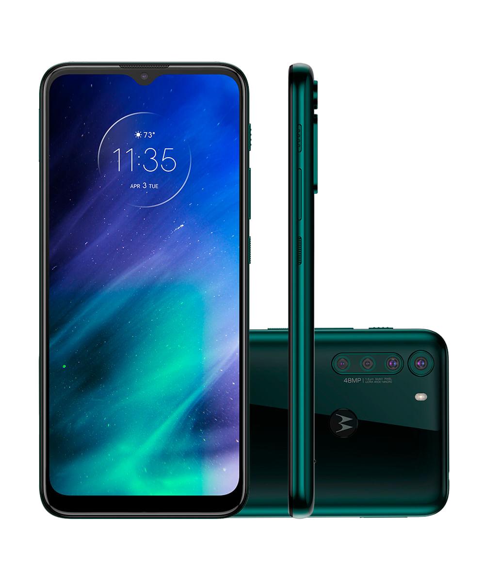 Smartphone Motorola One Fusion 128gb 4g Wi-fi Tela 6.5'' Dual Chip 4gb Ram Câmera Quádrupla + Selfie 8mp - Verde Esmeralda