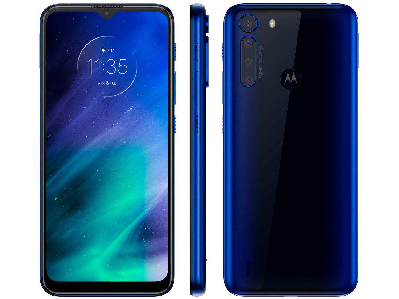 Smartphone One Fusion, 128GB, 48MP, 4GB RAM,Tela 6.5´, Azul Safira (xt2073-2) - Motorola
