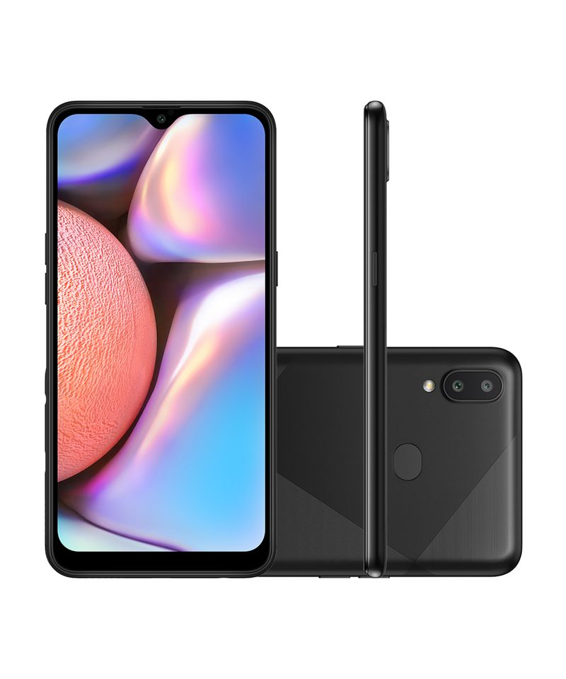 Smartphone Samsung Galaxy A10s 32gb 4g wi-fi tela 6.2'' Dual Chip 2gb Ram Câmera Dupla + Selfie 8mp - Preto Absurdo