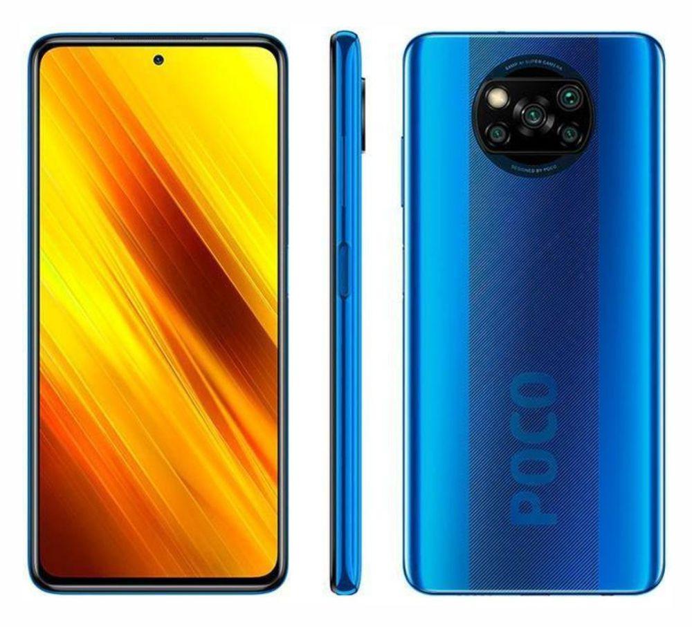 Smartphone Xiaomi Poco X3 128GB 6GB RAM (Cobalt Blue) Azul