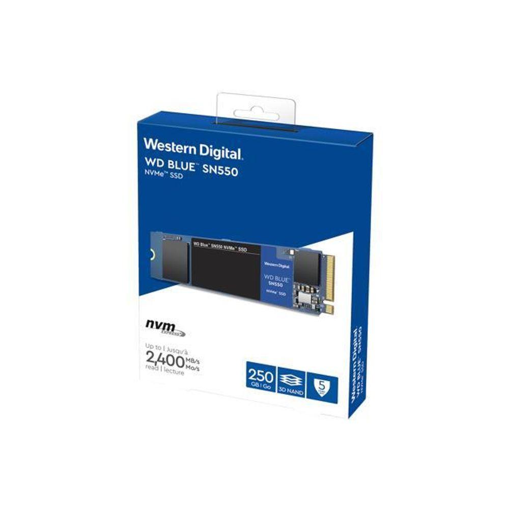 SSD WD Blue, 250GB, SATA, Leitura 550MB/s, Gravação 525MB/s WDS250G2B0A - Western Digital