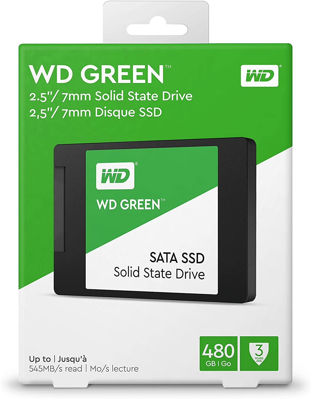 SSD WD Green, 480GB, SATA, Leitura 545MB/s, Gravação 430MB/s WDS480G2G0A - Western Digital