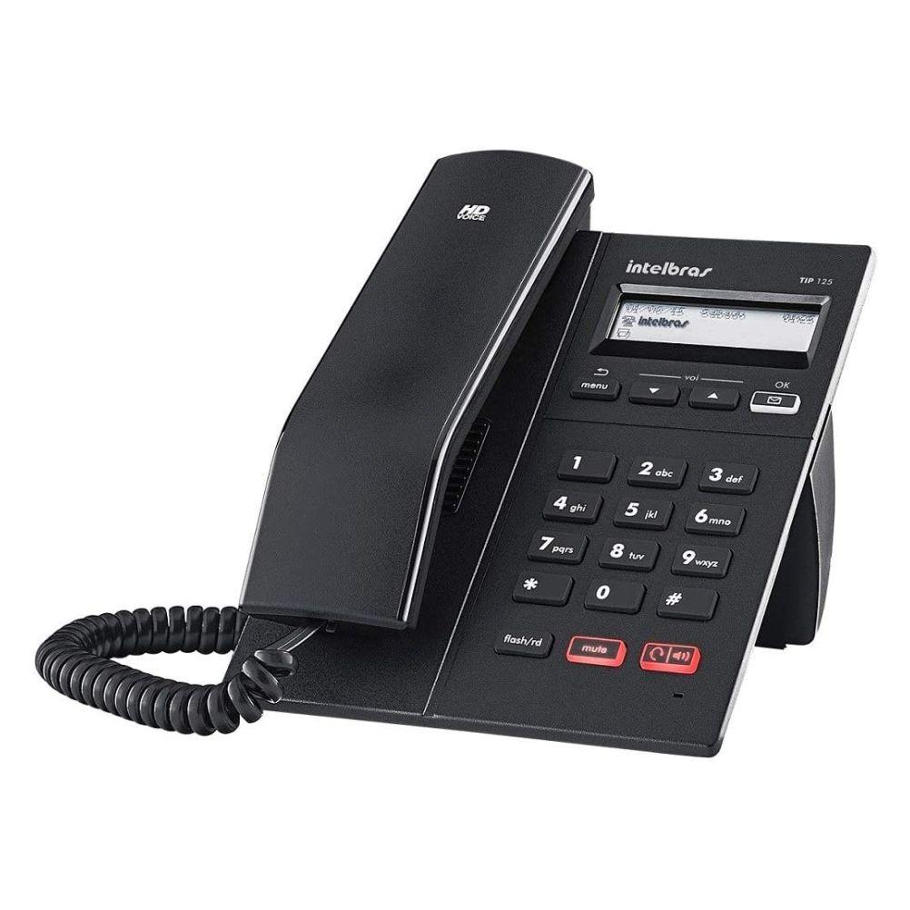 Telefone Ip Intelbras Com Fio Tip 125i Preto