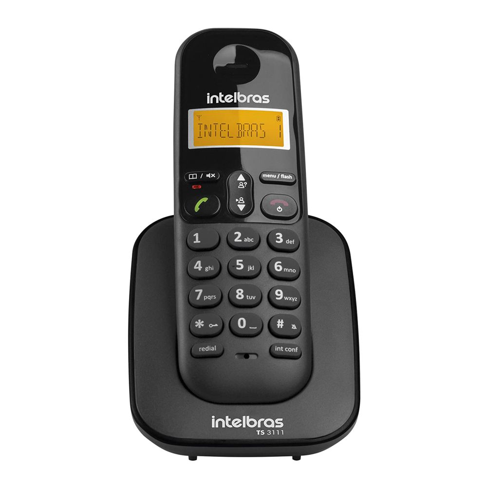 Telefone Ramal sem Fio Digital Ts 3111 Preto- Intelbras