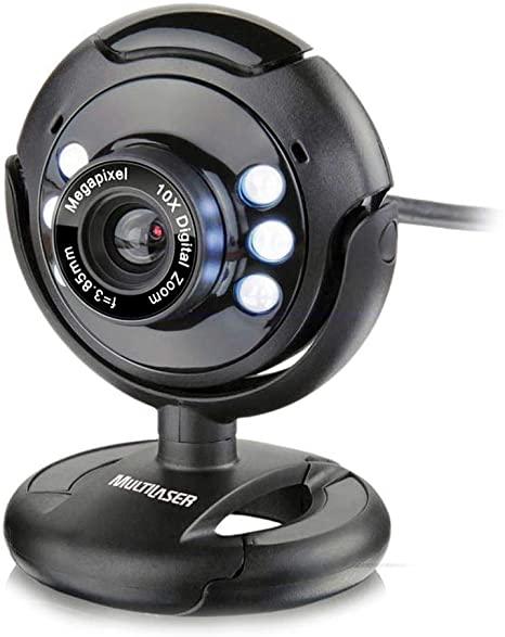 Webcam Plug E Play 16Mp Nightvision Preto WC045 - Multilaser