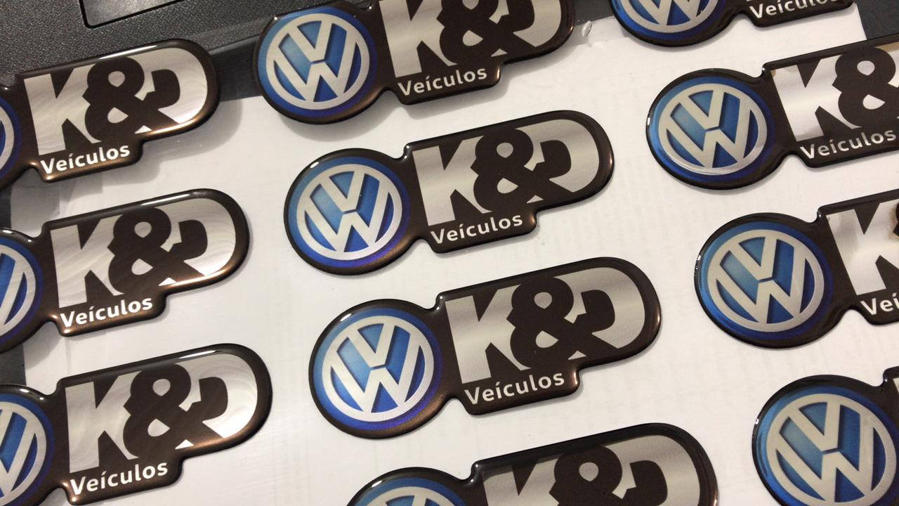100 Adesivos resinados personalizados - 6x4cm