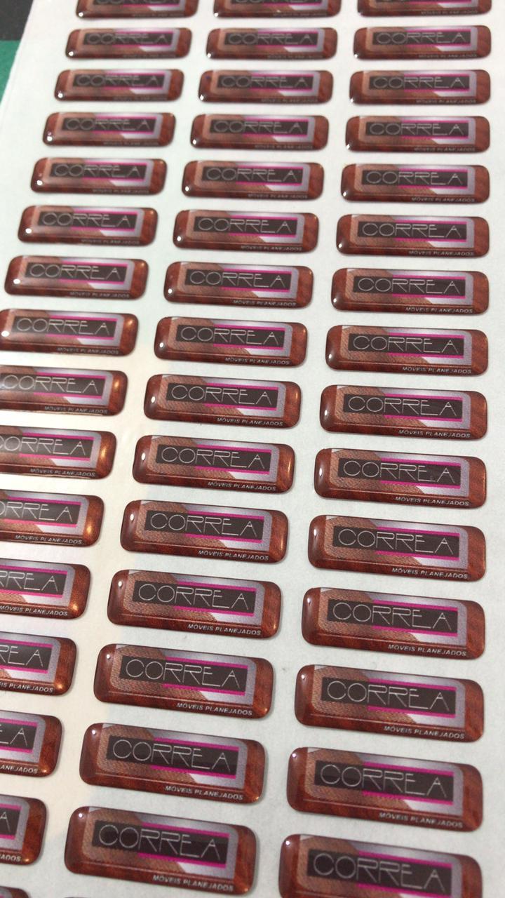 150 Adesivos Resinados Personalizados  5X3cm