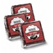 300 Rótulos adesivos p/ Brownie  4X4Cm