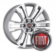 4 Emblemas Resinado Fiat p/ calota - 48mm