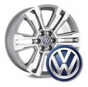 4 Emblemas Resinado Volkswagen (azul) p/ calota - 48mm