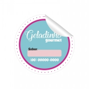 500 Etiquetas para Geladinho  3,5X3,5 CM