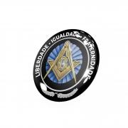 8 Emblemas Resinado Maçonaria  -50 mm