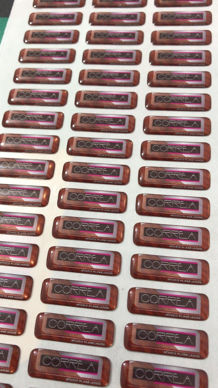 1 Folha A4  - Adesivos Resinados Personalizados