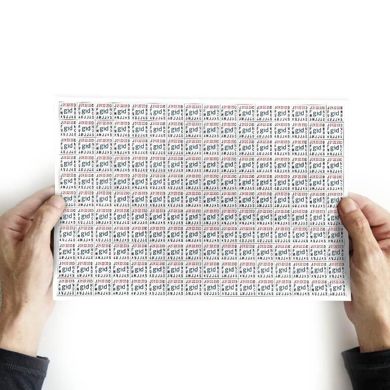40.000 Lacres/selo De Garantia 1x1 Cm - Casca De Ovo