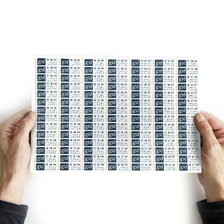 40.000 Lacres/selo De Garantia 3x1 Cm - Casca De Ovo