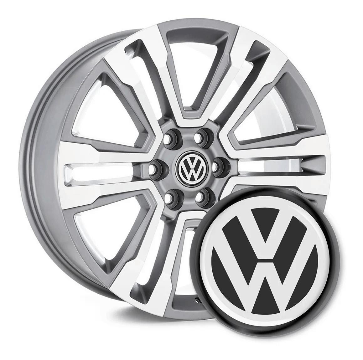 4 Emblemas Resinado Volkswagen p/ calota - 48mm