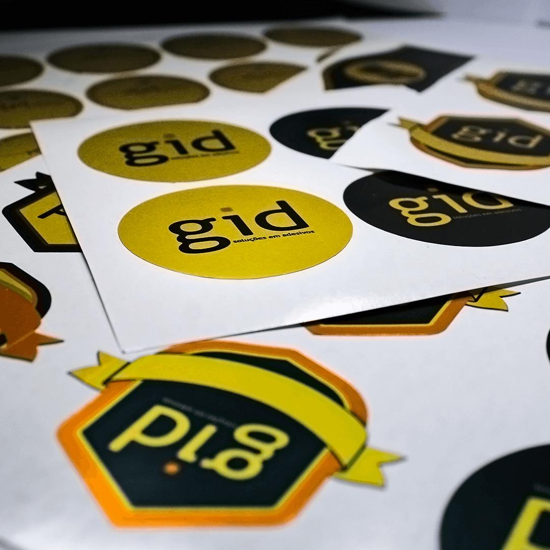 500 Adesivos Fecha Sacola (Dourados) Personalizados Para Loja / Comercio - 6x3cm