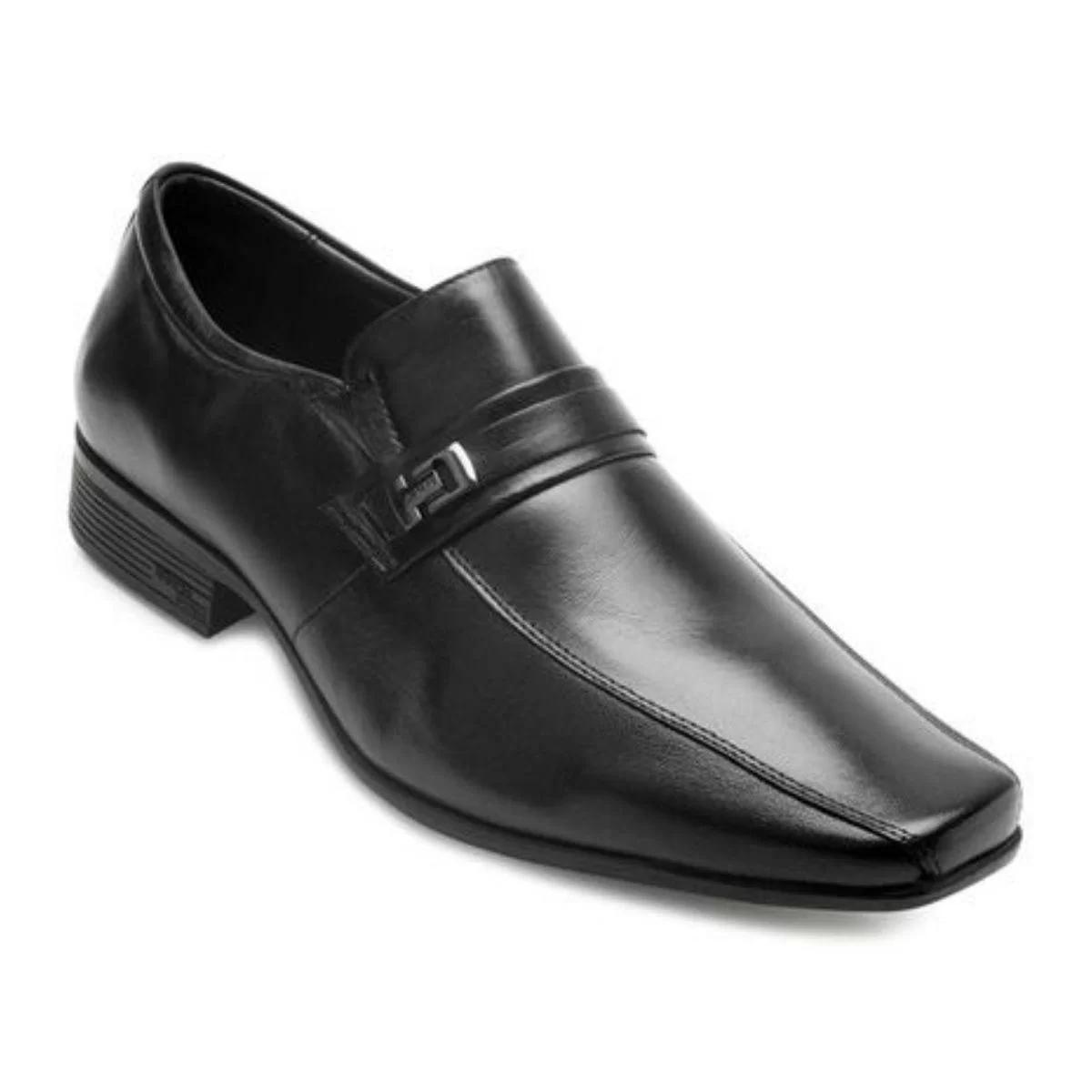 Sapato Social Jota Pe Ari Magic 77501 Masculino - Preto