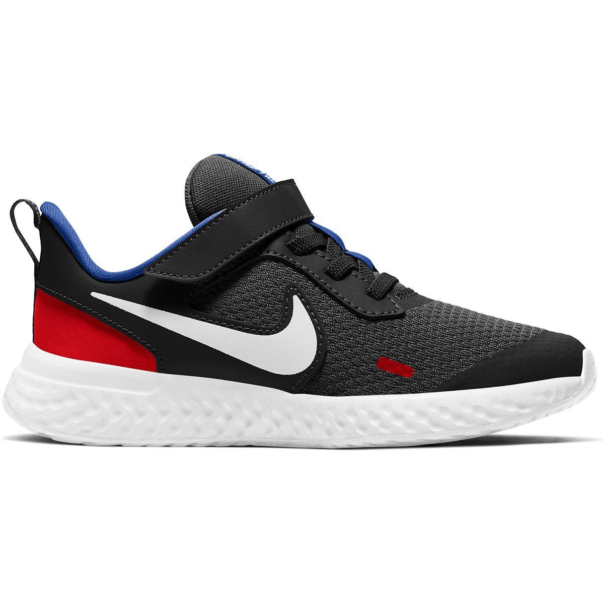 Tênis Infantil Nike Revolution 5 PSV - Preto+Vermelho