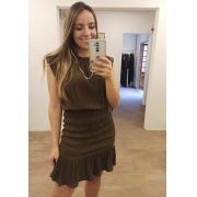 Vestido Crepe Lastex Sarah