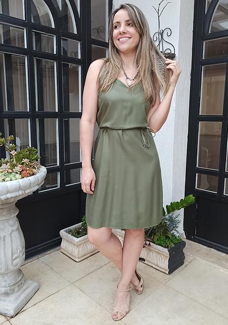 Vestido Alças Finas
