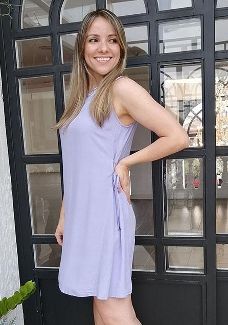 Vestido Curto Amarração Lateral