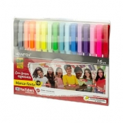 MARCA TEXTO UP YOUTUBERS COLLECTION PONTA CHANFRADA NEW PEN 16 CORES