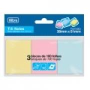 Tili Notes 38x51mm 3 bloco Tilibra Colorido