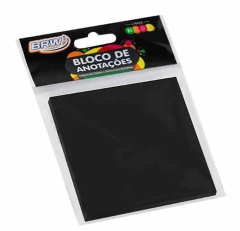 BLOCO SMART NOTES 76X76MM PRETO 50FLS