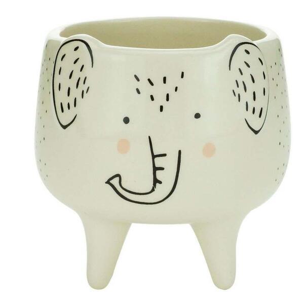Cachepot Ceramica Elefante