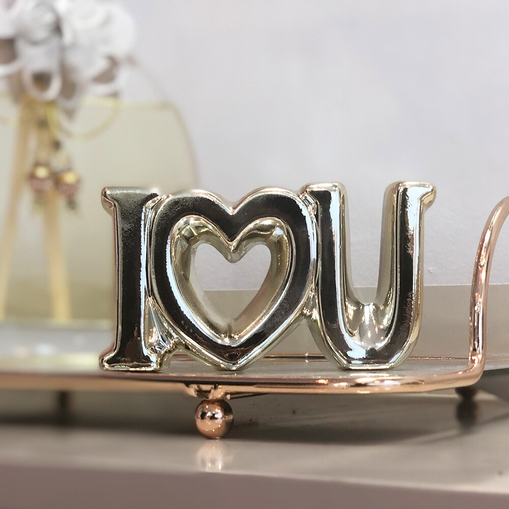 Enfeite decorativo Cerâmica I Love U