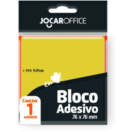 RECADO ADESIVO JOCAR AMARELO 76X76 100FLS