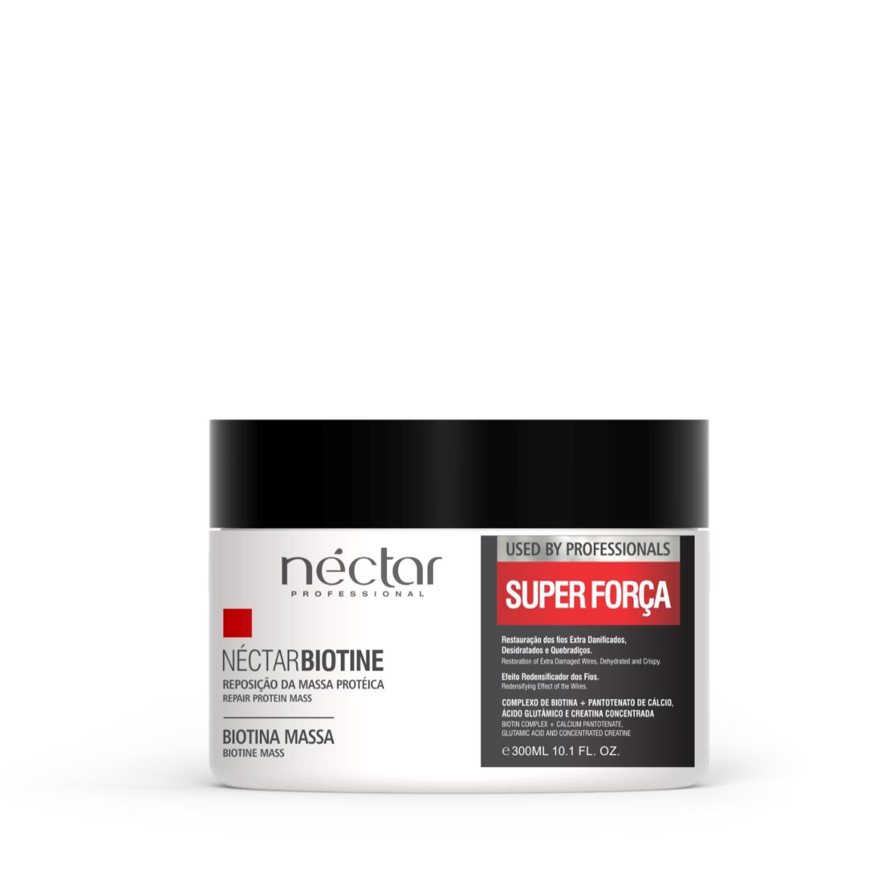 Máscara para cabelos com dificuldade de crescimento e fracos - Biotina Néctar 300g