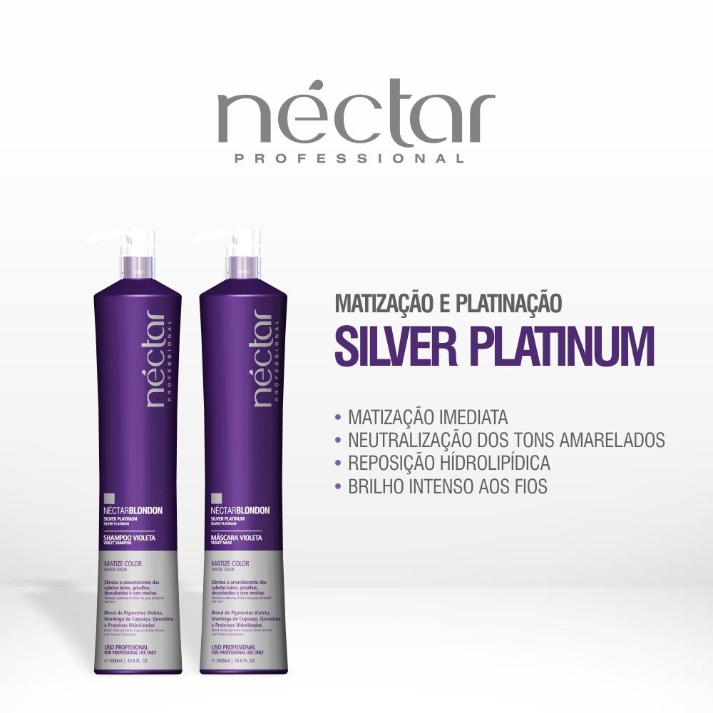 Matização e Platinação Silver Platinum - Néctar Blond Professional