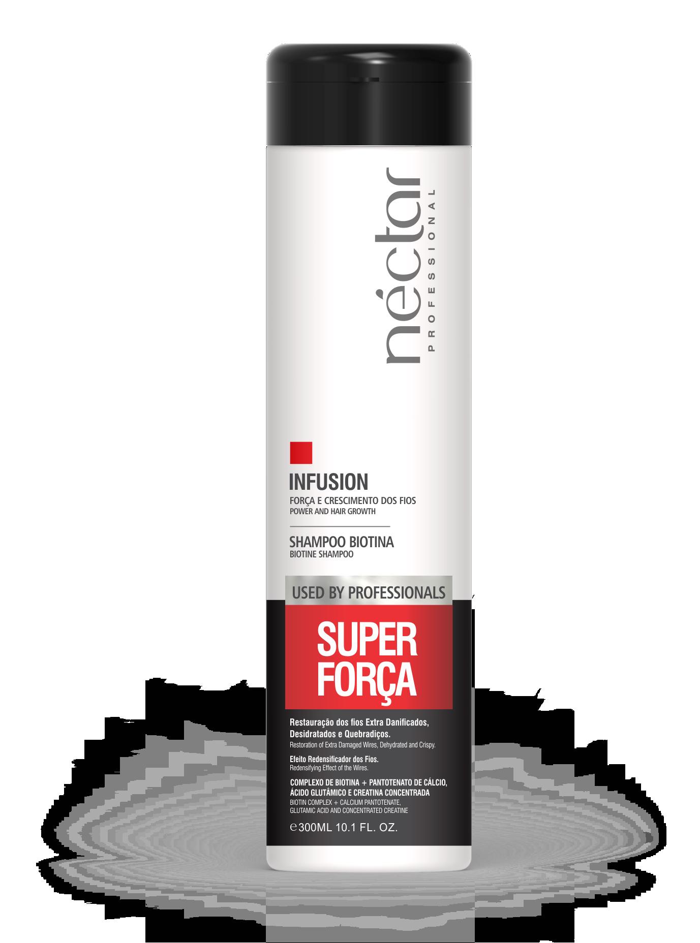 Produto para estimular crescimento e fortalecer os fios - Super Força Biotina Néctar 300ml