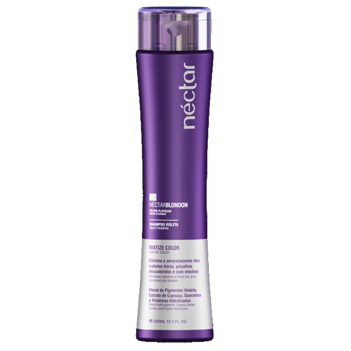 Shampoo para Cabelos Loiros e com Luzes 300ml - Kit Néctar Blondon