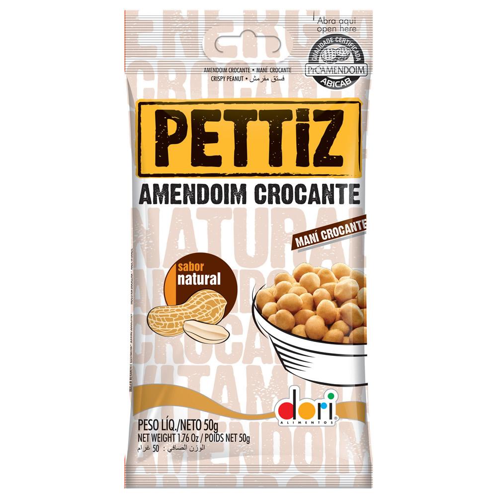 AMENDOIM PETTIZ NATURAL CROCANTE 50G