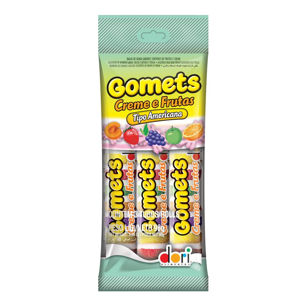 Goma Tubo Creme Frutas 96grs