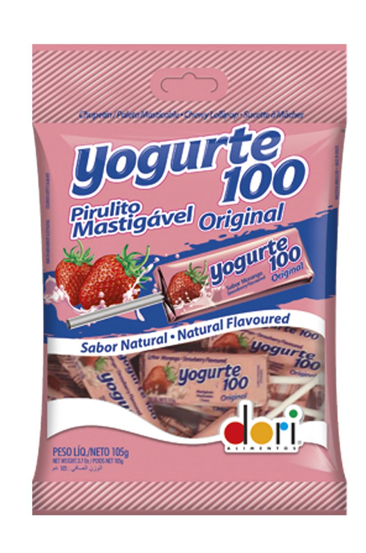 PIRULITO YOGURTE100 MORANGO MASTIGAVEL 105G