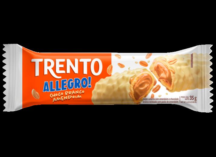 Wafer Trento Allegro! Choco Branco Amendoim