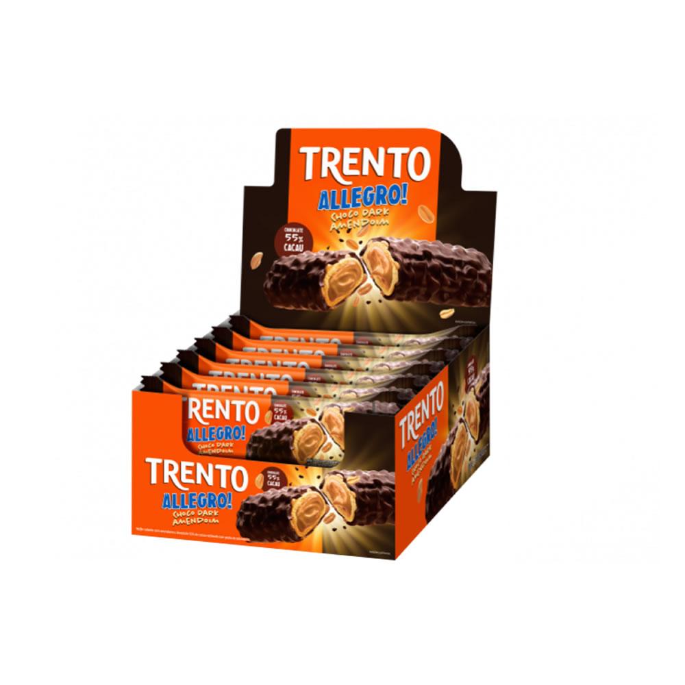 Wafer Trento Allegro! Choco Dark Amendoim