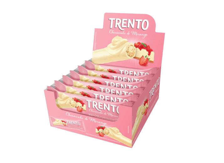 Wafer Trento Cheesecake de Morango
