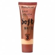 Base Ruby Rose Bege 3 Soft Matte 29ml