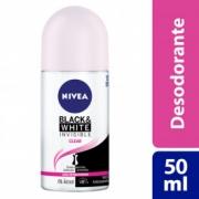 Desodorante Nivea Roll On Invisible Black & White Clear Feminino 50ml