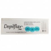Lenço Depiflax Para Depilação de Falso Tecido em Fibra 10 Folhas