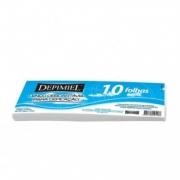 Lenço Depimiel Descartável para Depilação - 10 Folhas